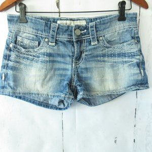 BKE Buckle Denim Sabrina Jean Shorts Embroidered